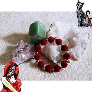 Jewelry - 🌈Sugar skull Velvet Bracelet💀🌹